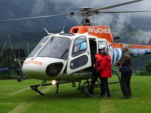 Hubschrauber beim Hechl