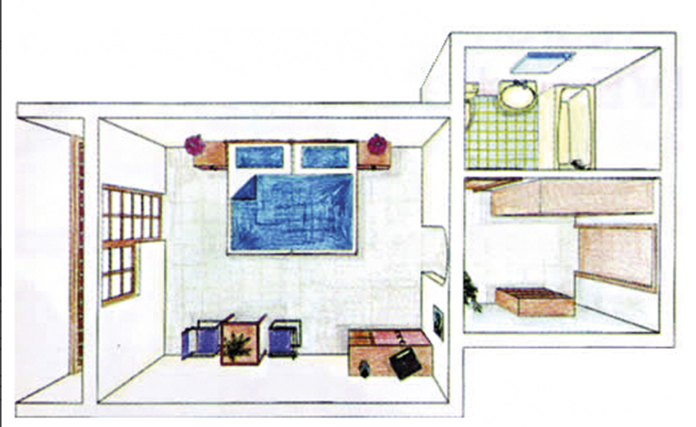 Doppelzimmer Grundriss